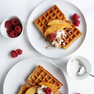 Fluffy Vegan Breakfast Waffles.