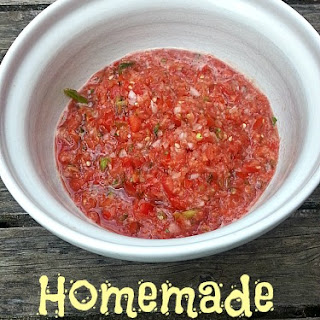 Homemade Fresh Salsa.