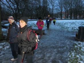 Photo: entrée dans le parc aux étangs (Bruxelles)