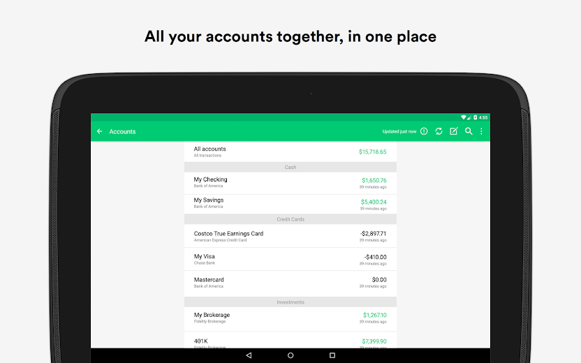 Screenshot 6 for Mint's Android app'