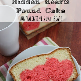 Hidden Hearts Pound Cake | Valentines Day