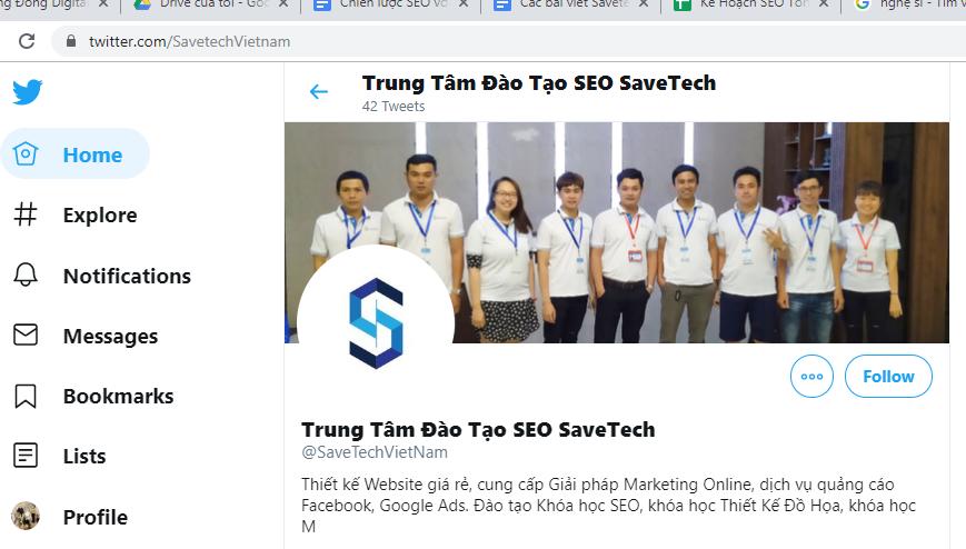 Trang Twitter của Savetech