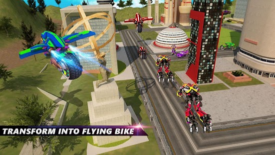 Futuristic Robot Flying Bike War Simulator - náhled