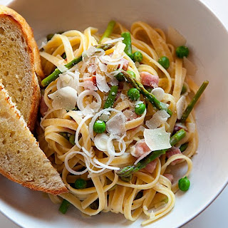 Spring Veggie and Ham Pasta
