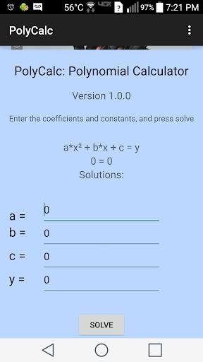 PolyCalc: Equation Solver