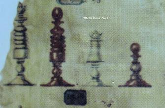Photo: Bone Chessmen - No 18  Jaques 'Pattern Book'
