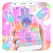 App Colorful Ink Hamsa Hand Keyboard Theme APK for Windows Phone