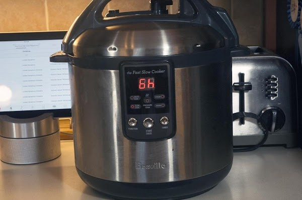 Set your slow cooker to low, and set a timer for two hours.