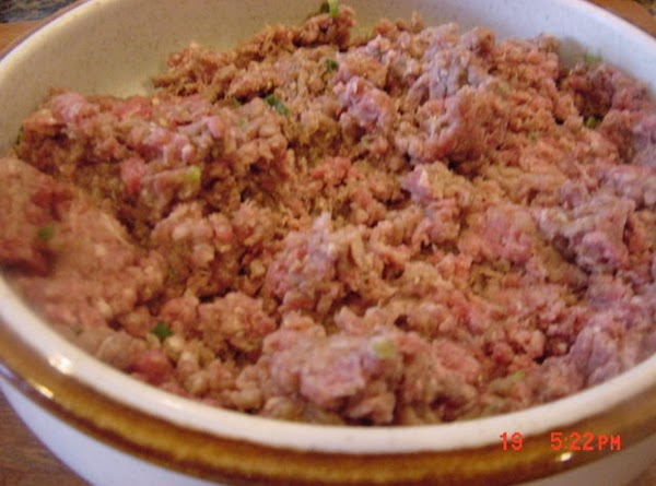 Brown the meat and onions in a large skillet. Add the seasonings, tomatoes, and...