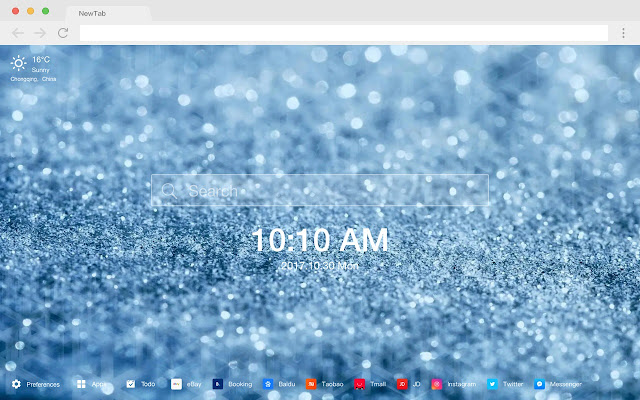 Glitter pop beautiful HD new tab page theme