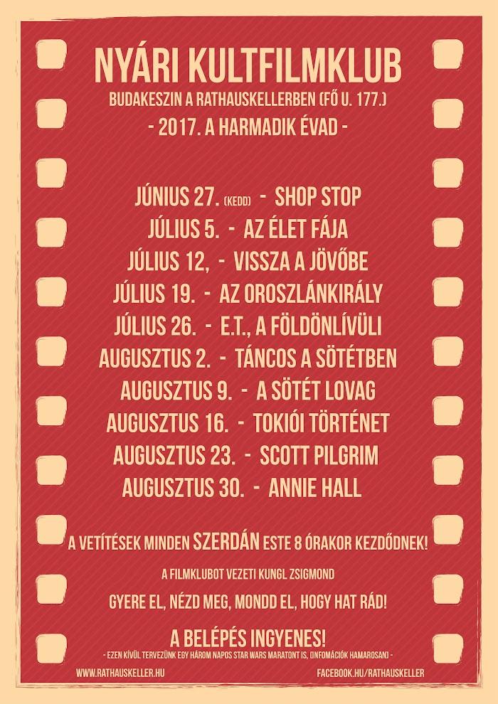 Nyári KultFilmklub 2017.