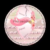 Pink wedding GO Keyboard