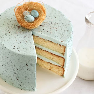 Speckled Egg Malted Milk Cake.
