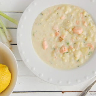 Salmon Corn Chowder with Lemon & Thyme