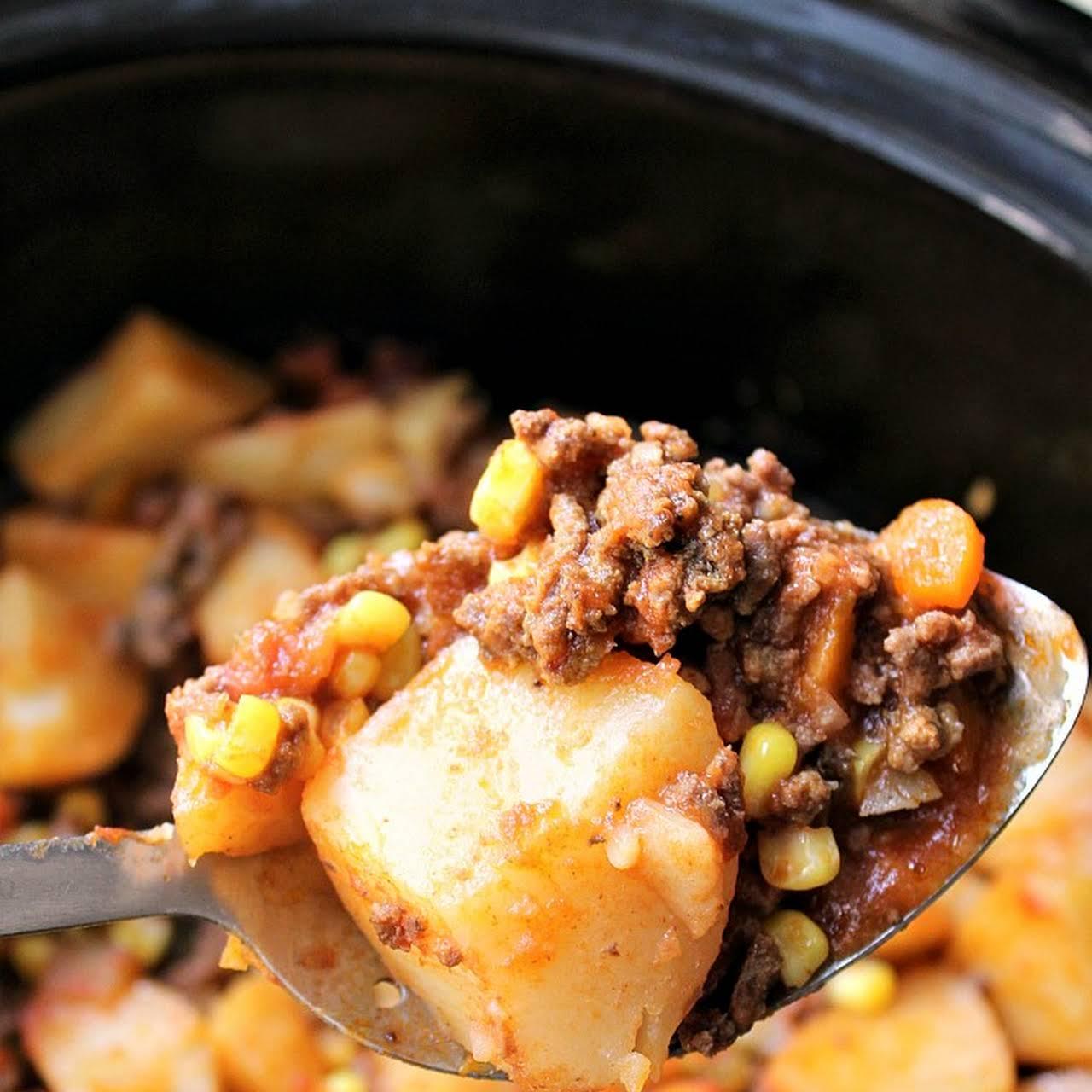 Crock Pot 4  buildup Hamburger Potato Casserole