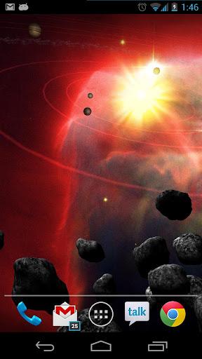 Asteroid Belt Live Wallpaper screenshot 3