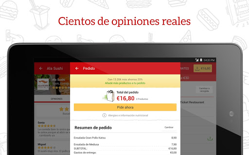 JUST EAT - Comida a domicilio screenshot 08