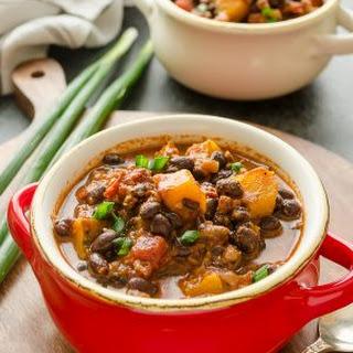Chorizo Black Bean Kabocha Squash Chili