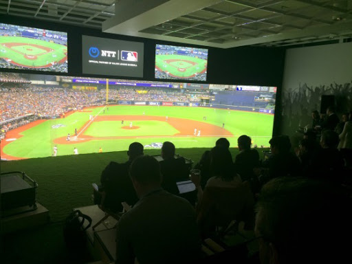Photos at the PoC event: MLB Studio (Photo: Business Wire)