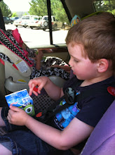 Photo: Got some MU fruit snacks for the road.  Mom snuck a few of them for herself!