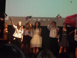 Photo: Actuació dels alumnes francesos