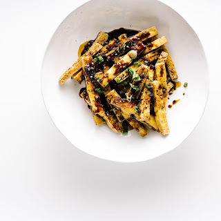 Tofu Fries with Sesame Honey Garlic