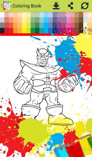 Superhero Infinity Coloring book for kids 1.0 screenshots 2