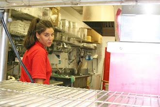 Photo: Antonija from Croatia. Expeditor & counter master at Pino`s Pizza USA 2012