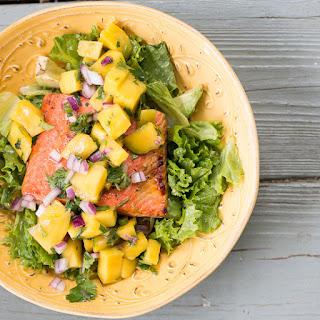 Seared Salmon with Mango Salsa Salad
