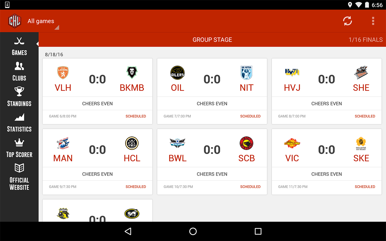 CHL 2016 / 2017 – Screenshot