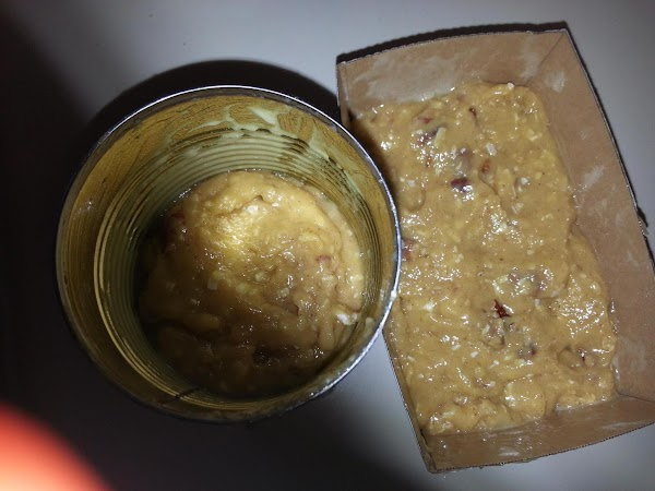 Pour mixture 1/2 way up in 6 #303 cans or small loaf pans, ...