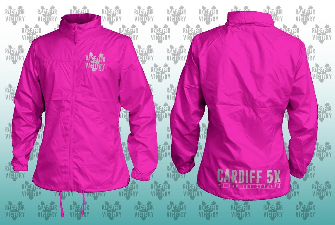 Cardiff 5K - Pink Rain Jacket