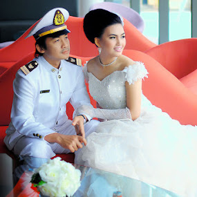 by Herry Mahendra - Wedding Bride & Groom
