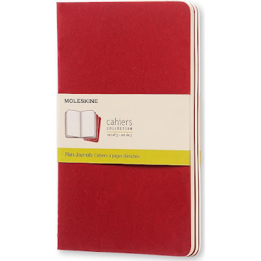 3 x Cahier Journal Large Red