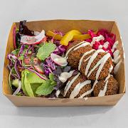 Quinoa & Beetroot Falafel Salad
