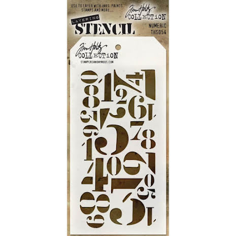 Tim Holtz Layered Stencil 4.125X8.5 - Numberic