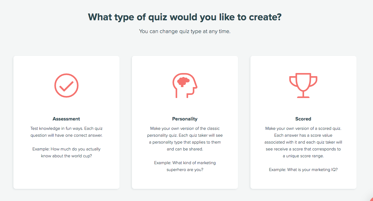 types of quizzes you can create