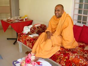 Photo: Shri Adrushya Swamiji,KadSidheshwar Math,Kolhapur visits Sarve Huts
