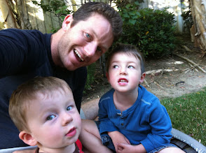 Photo: Daddy and Boys on Trampoline