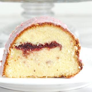Strawberries & Cream Bundt Cake.