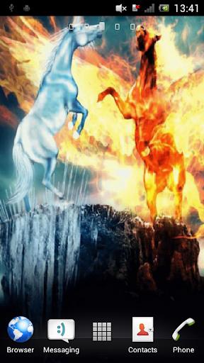 Two horses Live Wallpaper