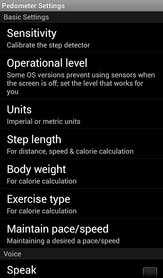 Pedometer Calories Map WalkLog- screenshot