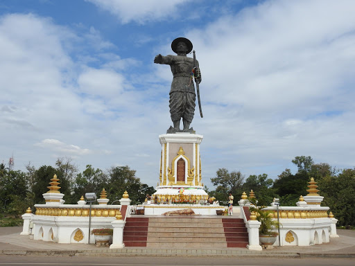 The Old King of Laos Statue