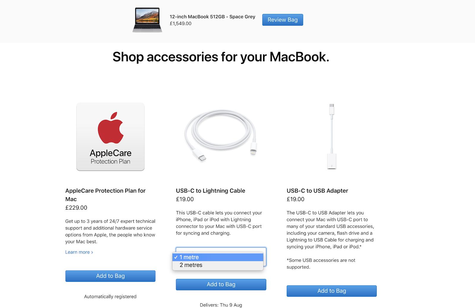Cross selling (apple)