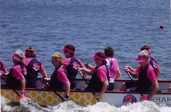 Photo: Dragons Abreast Penrith - New Pink Boat with Jenny & Jo/Abreast in Australia