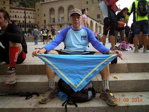 """Photo: Ignasi Solernou al Monestir de Montserrat (720m). """"Cim"""" de la Matagalls-Montserrat."""