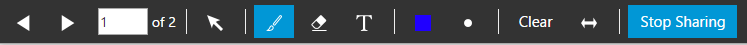 "La barra de herramienta ""Share PDF"" en WebMeeting 3CX"