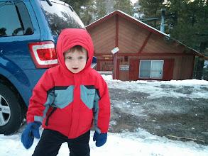 Photo: Finn Spies a Snowball