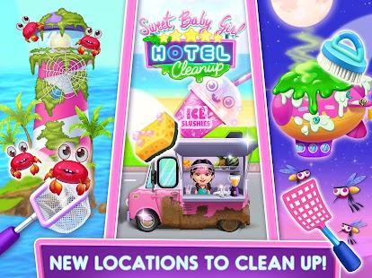 Sweet Baby Girl Hotel Cleanup - Crazy Cleaning Fun Screenshot