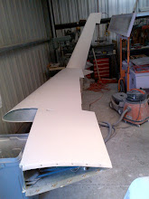 Photo: Right wing primer complete on top and winglet.